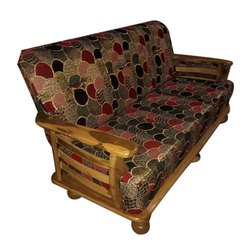Wooden Three Seater Fabric Set, Seating Capacity: 3 Seater, for Home