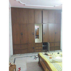 Wooden Brown Wall Fixing Almirah Rs 1400 Square Feet Heaven