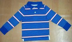 Printed Hosiery Boys Collar T-shirt Surplus