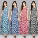 Stitched Casual Wear Long Dress Kurtis, Size: XL
