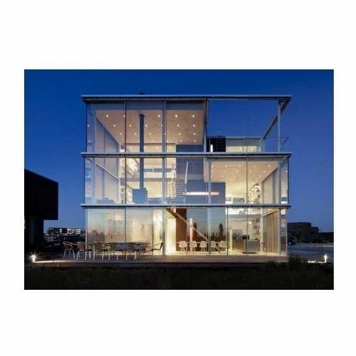 office facade. Office Glass Facade E