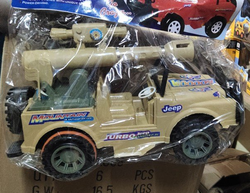 Military Colored Turbo Jeep