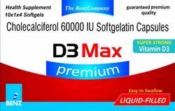 D3 Max Soft Gelatin Capsules