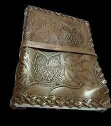 Owl Embossed Designer Handmade Leather Journal