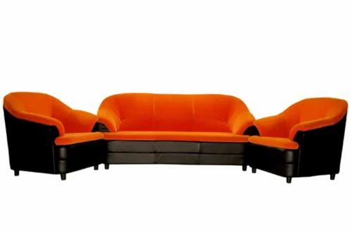 Black And Orange Sofa Set Ss 569 Night 3 1 V R Art Furnituure Pvt