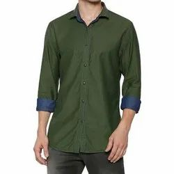 Cotton Collar Neck Mens Plain Reversible Shirt