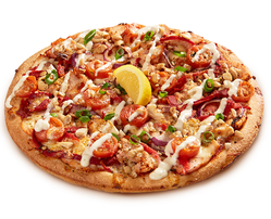 Garlic Lemon Chicken Pizza