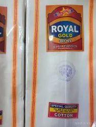 Royal Brand White Palin patti cotton Gamcha, 120 gram, Size: 2 Mtr