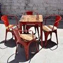 Restaurant Furniture - Retro Dining Table - Reclaimed Wood Dining Table - Outdoor & Cafe Furniture