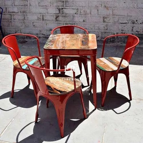 Restaurant Furniture Retro Dining Table Reclaimed Wood Dining