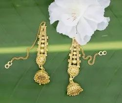 Golden Party Brass Hanging Earring