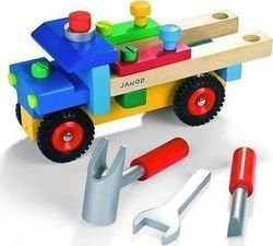 WE-BLINK Pretend and Play Wooden Tools Facility Truck
