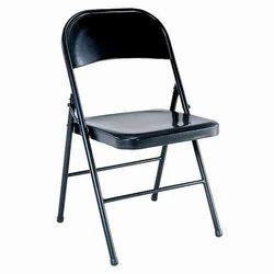 Black Steel Folding Chair, Height: 3.5 feet