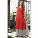 Cotton Designer Ladies Palazzo Suit, Size: S-xl