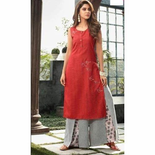 8e0c782a31 Cotton Designer Ladies Palazzo Suit, Size: S-XL, Rs 795 /piece | ID ...