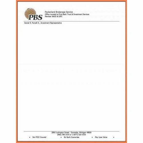 Corporate Letterhead At Rs 3 Piece: Company Letter Head, लेटर हेड - PrintKraft, Delhi