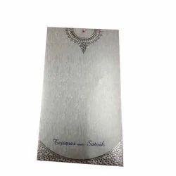 Rectangular Metallic Wedding Card