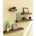 Furniture Cafe Brown Decorative Wooden Wall Shelves, For Home