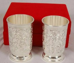 Brass Silver Plated Glass/ Tumbler