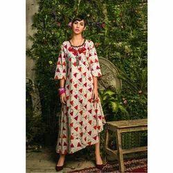 Cotton/Linen Multi Casual Ladies Kurti