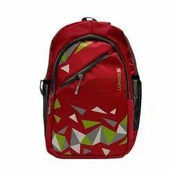 Printed Unisex Red School Backpack