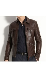 Black Pure Leather Mens Leather Jackets