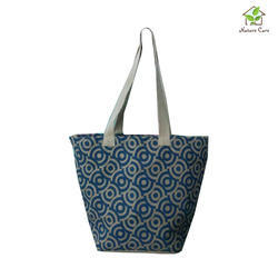 Jute Bag With One Colored Screen Print