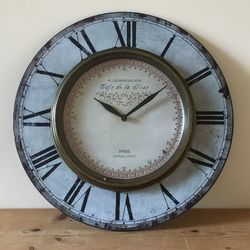 Antique Brass Vintage Station Style Wall Clock