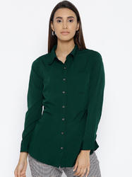 Women Poly Crepe Casual Shirt