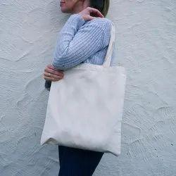Anoo's Long Handle Cotton Tote Bag, Capacity: 10 Kg, Size/Dimension: 10 X 10 X 3 Inch