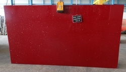 Artificial Red Quartz stone slab