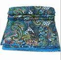 Handblock Printed Kantha Bedspread