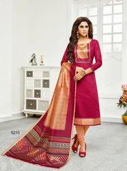 Silk Dupatta Casual Salwar Kameez