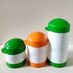 HDPE Plain Hat Type Powder Container