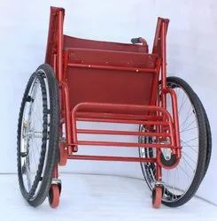 100 kg Fix Wheel Chair, Seat Height: 17 inch, Model Name/Number: Eazy