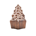 Christmas Tree Shape Wooden Printing Block