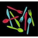 Colored Plastic Disposable Cutlery