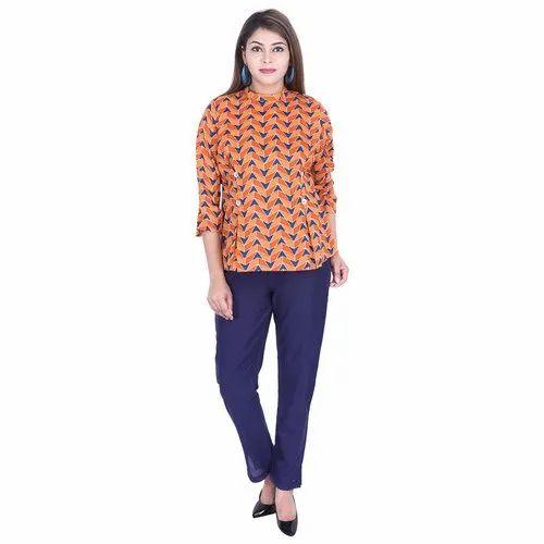 Lavanya Cotton Designer Short Kurti With Pant Set