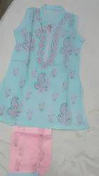 Cotton Wedding Wear Kidswear Chikankari Clothing