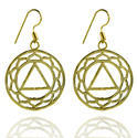 Brass Gypsy Dangle Earrings