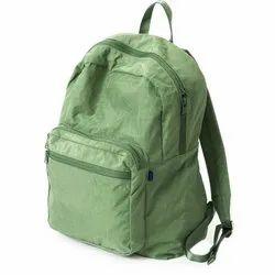 Polyester Green Collage Shoulder Backpack