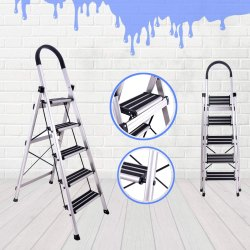 Fine Aluminium Ladder Aluminum Anodize Premium 5 Step Ladder Machost Co Dining Chair Design Ideas Machostcouk