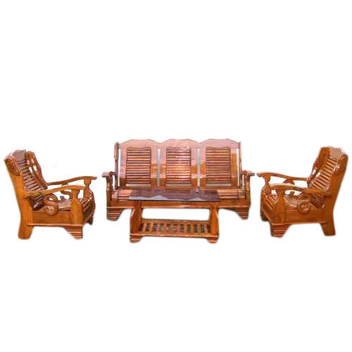 S Model Wooden Sofa Set