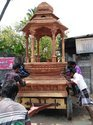 Teak Wood 12 3/4 Feet Temple Chariot