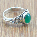 925 STERLING SILVER JEWELRY GREEN ONYX GEMSTONE NEW FASHION RING WR-5019