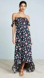 Cotton Printed Ladies Designer Dress