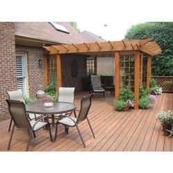 Wooden Pergola With Deck