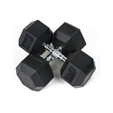 6-sided, Hex Dumbbell In Black Color, Weight: 10 Kg