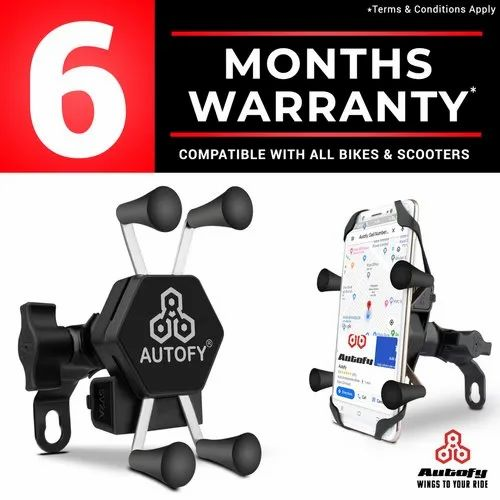 Autofy Bike Mobile Charger & Phone Holder For All Bikes Scooters (6 Months Warranty)