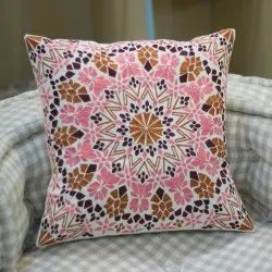 Indian Cushion Embroidery Cotton Cotton Cushion Cover